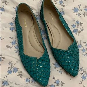 Green teal shoes